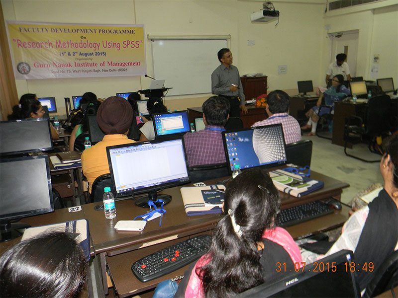 FACULTY DEVELOPMENT PROGRAMME(FDP) ON RESEARCH METHODOLOGY USING SPSS